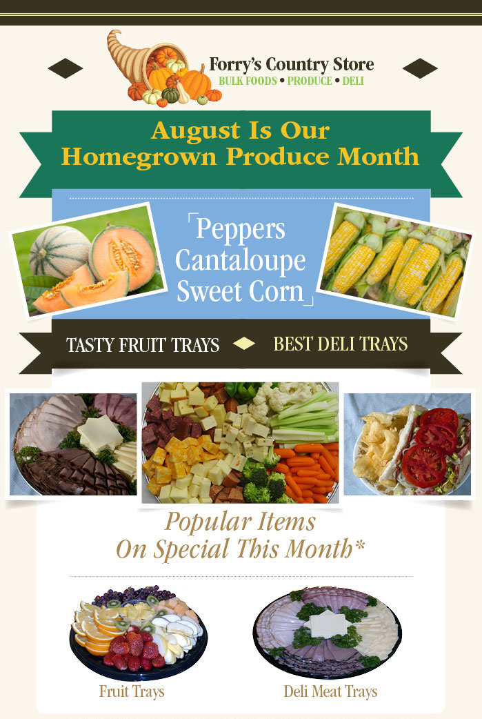 August is Homegrown Produce Month at Forry's