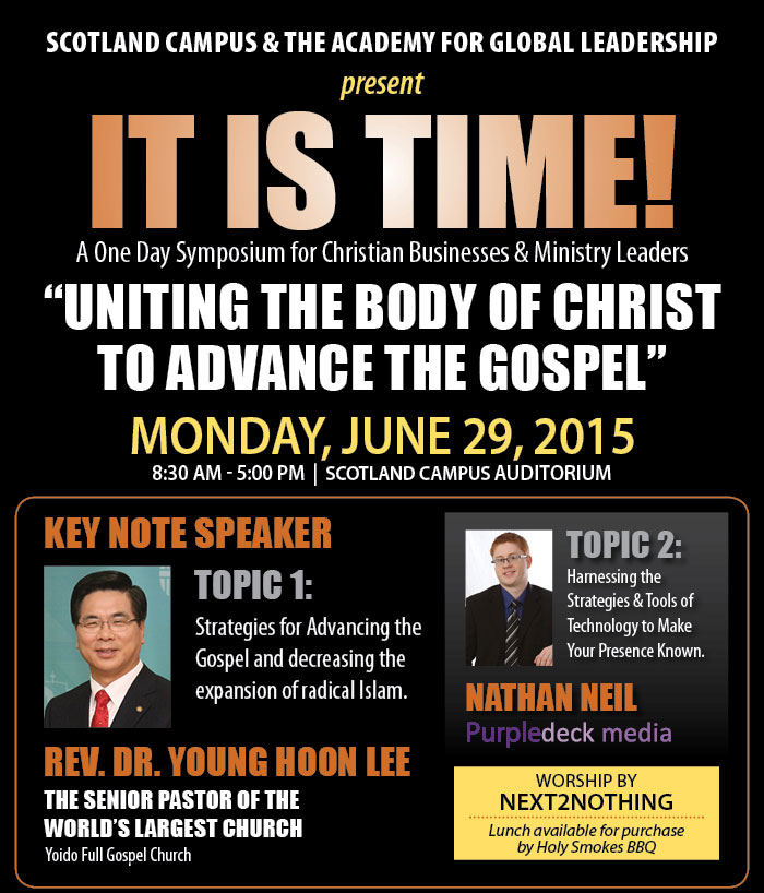 IT IS TIME! - A One Day Symposium for Christian Businesses & Ministry Leaders